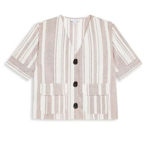 Charlie buttoned short sleeve top